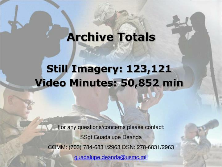 Archive Totals