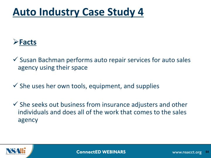Auto Industry Case Study 4