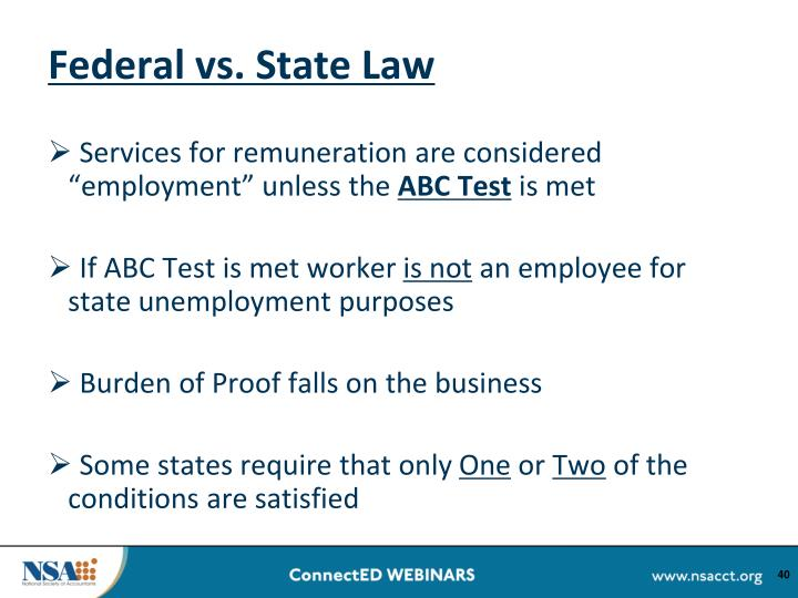 Federal vs. State Law