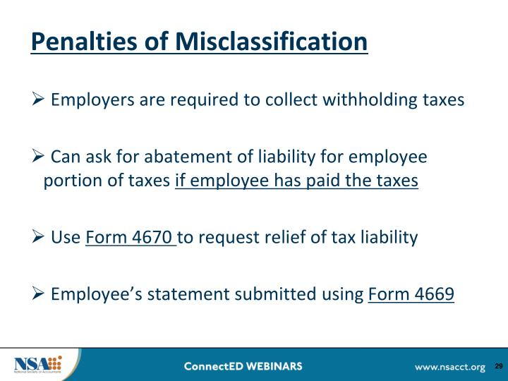 Penalties of Misclassification