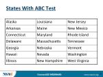 states with abc test
