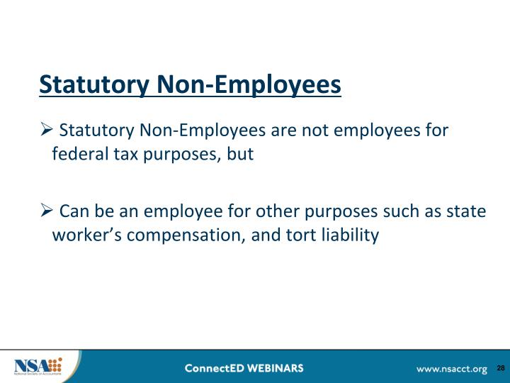 Statutory Non-Employees