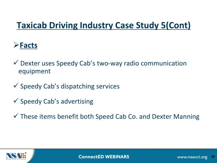 Taxicab Driving Industry Case Study 5(Cont)