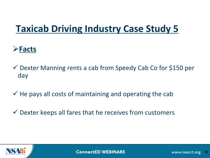 Taxicab Driving Industry Case Study 5