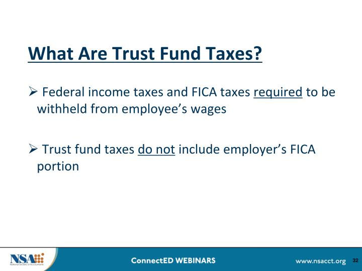 What Are Trust Fund Taxes?