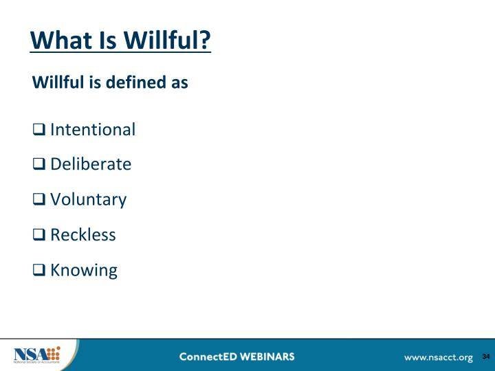 What Is Willful?