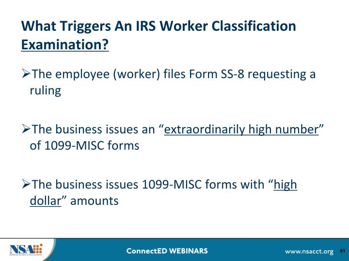 What Triggers An IRS Worker Classification