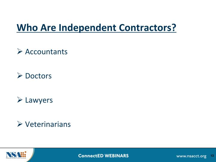 Who Are Independent Contractors?