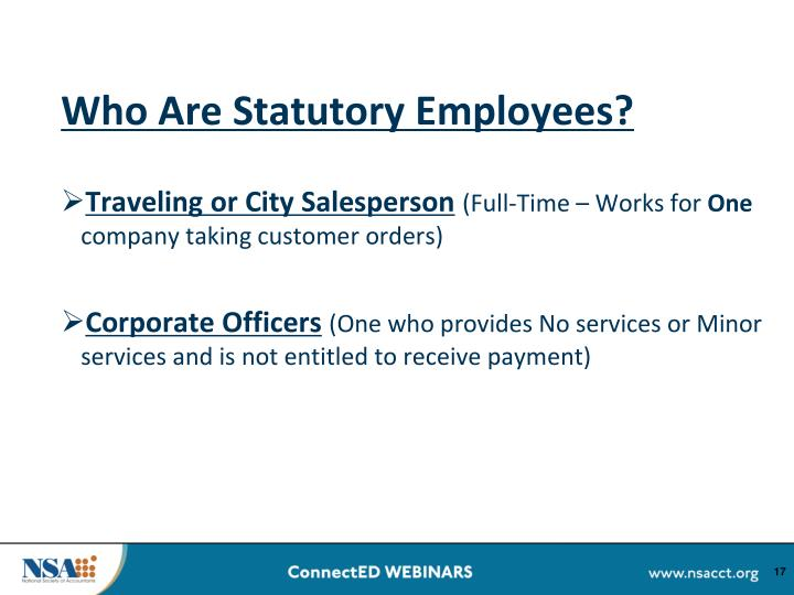 Who Are Statutory Employees?