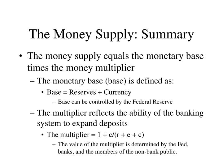 the federal money supply essay Read this essay on money and the federal reserve come browse our large digital warehouse of free sample essays how does federal reserve control the money supply.