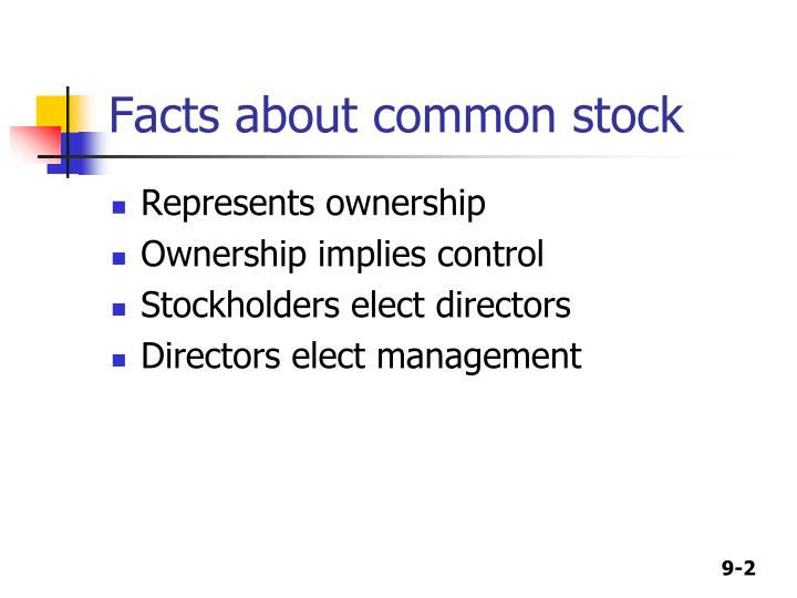 Facts about common stock