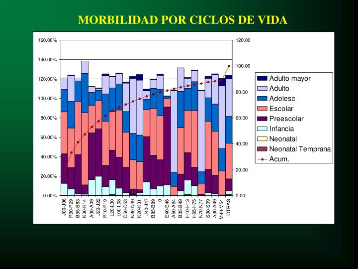 MORBILIDAD POR CICLOS DE VIDA