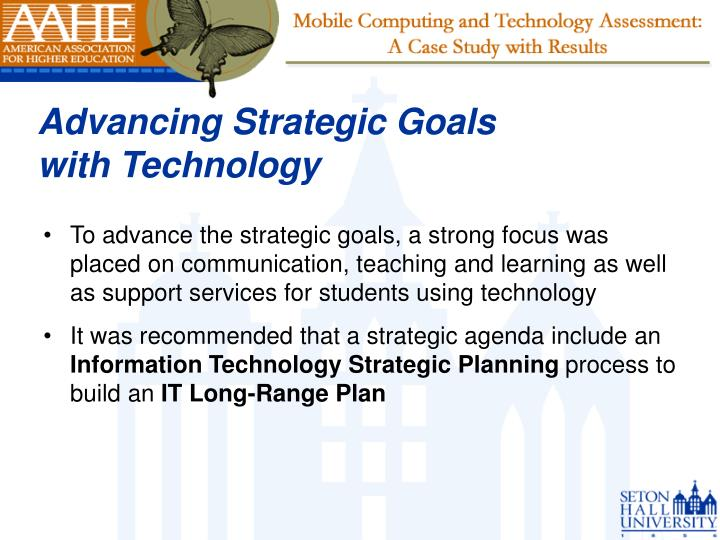 Advancing Strategic Goals