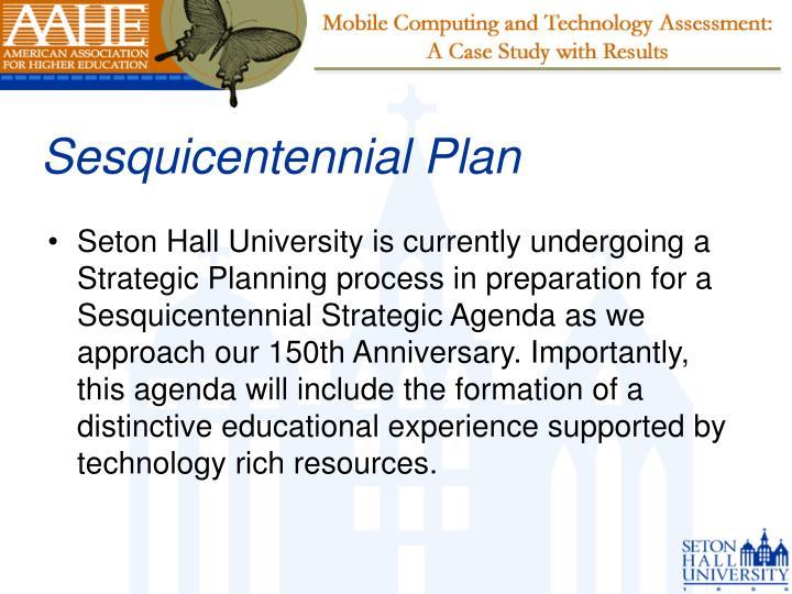 Sesquicentennial Plan