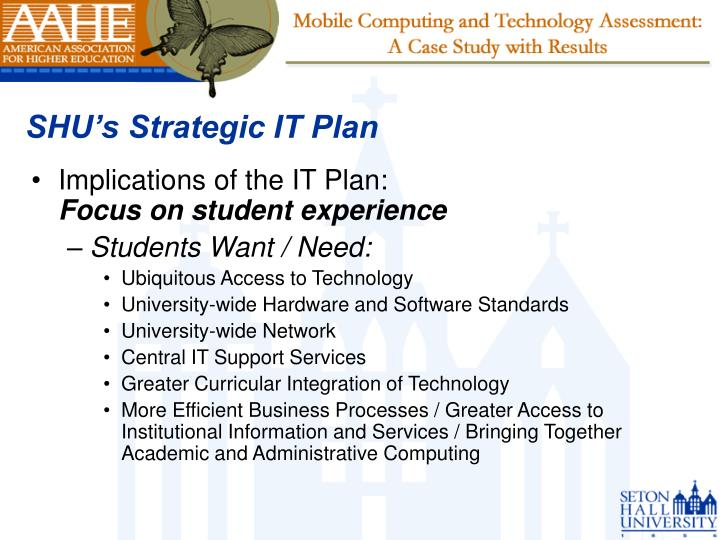 SHU's Strategic IT Plan