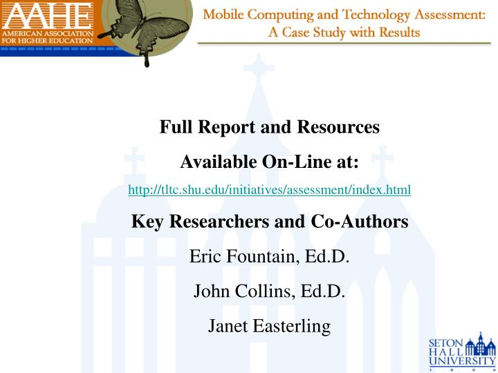 Full Report and Resources