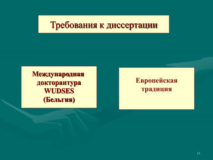 Требования к диссертации