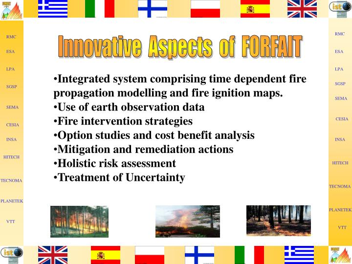 Innovative  Aspects  of  FORFAIT