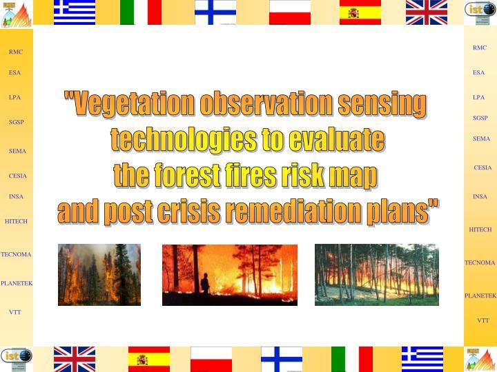 """""""Vegetation observation sensing"""