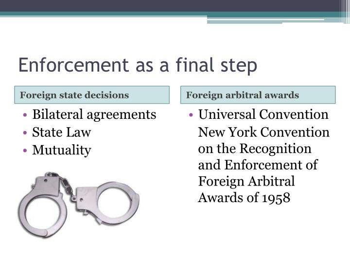 Enforcement as a final step