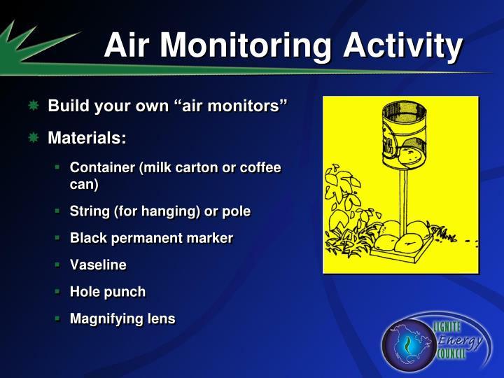 Air Monitoring Activity