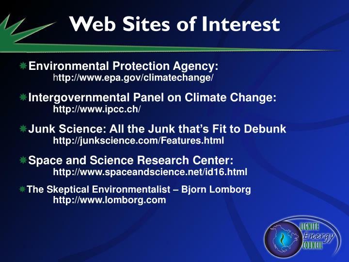 Web Sites of Interest