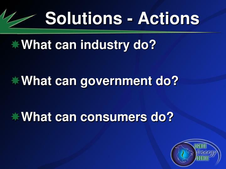 Solutions - Actions