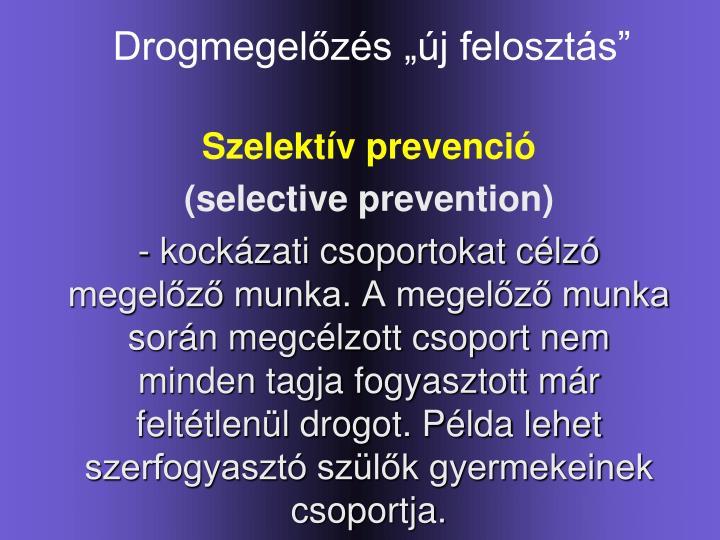 Szelektív prevenció