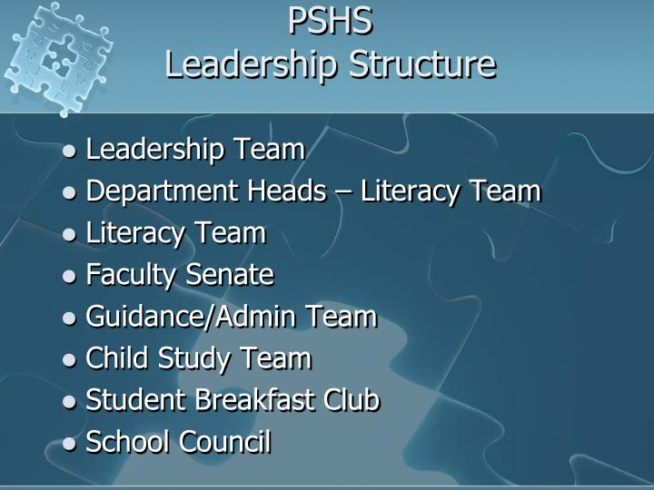 Pshs leadership structure