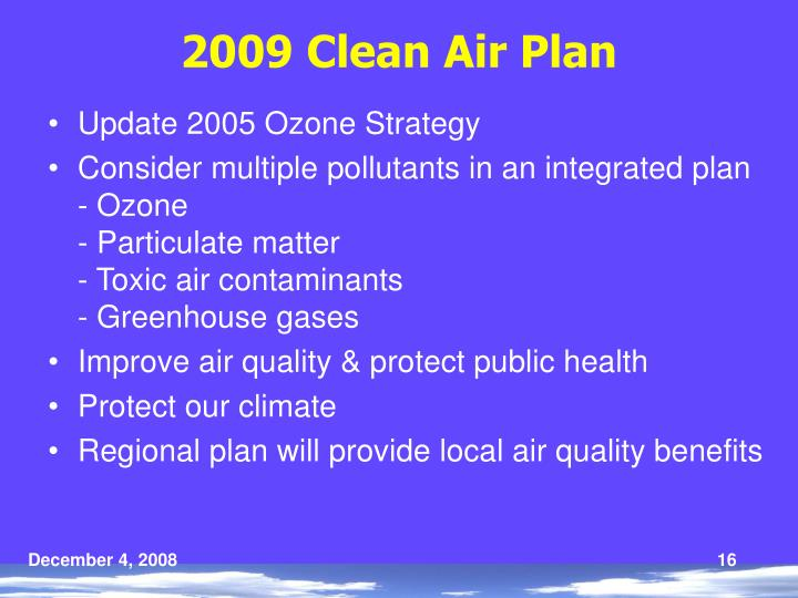2009 Clean Air Plan