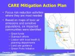care mitigation action plan