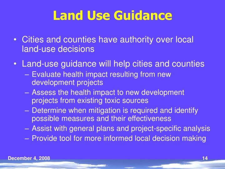 Land Use Guidance