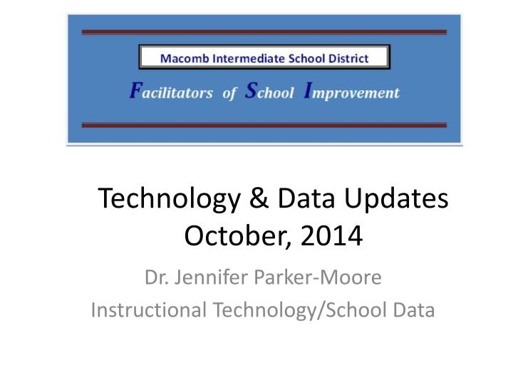 technology data updates october 2014