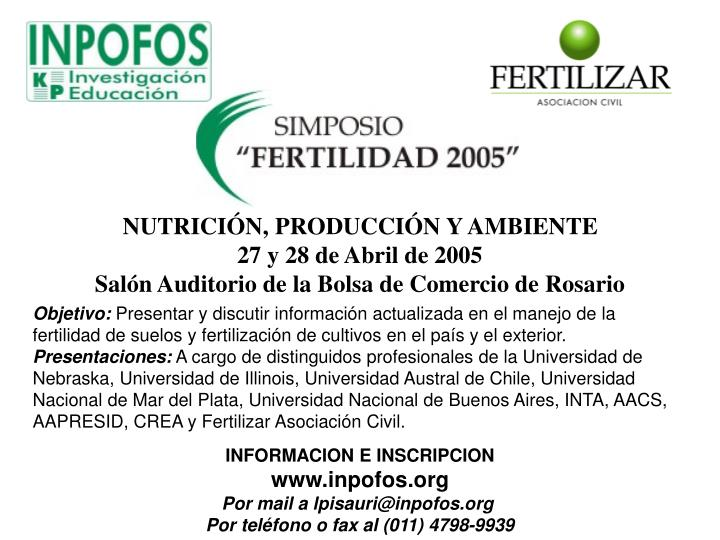 NUTRICIÓN, PRODUCCIÓN Y AMBIENTE