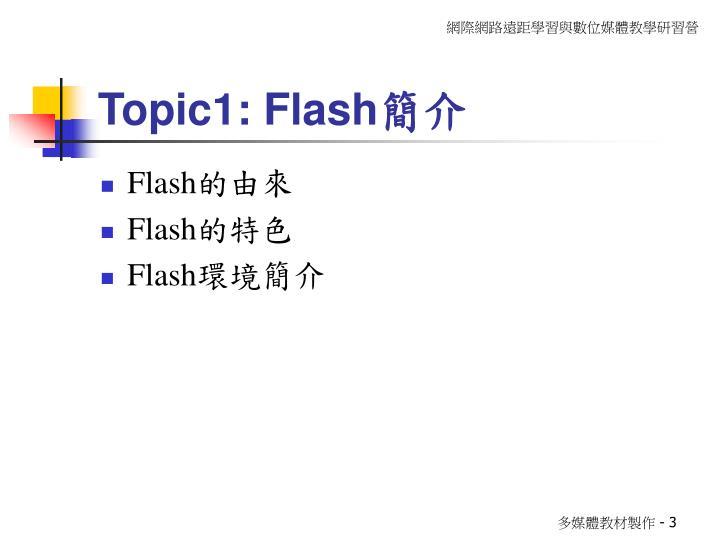 Topic1: Flash