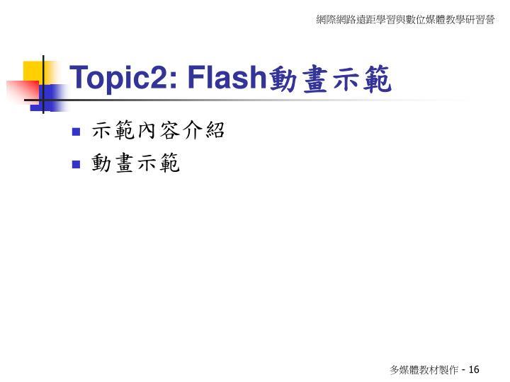 Topic2: Flash