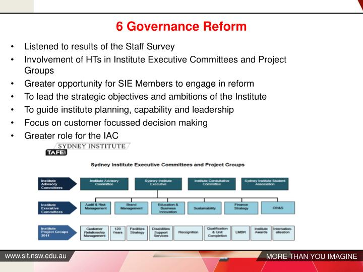 6 Governance Reform