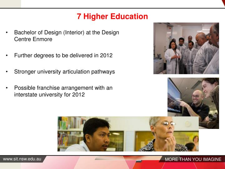 7 Higher Education