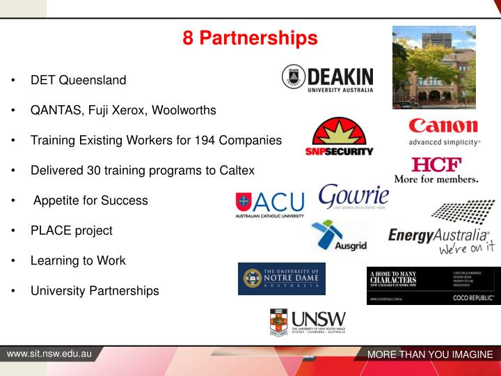 8 Partnerships