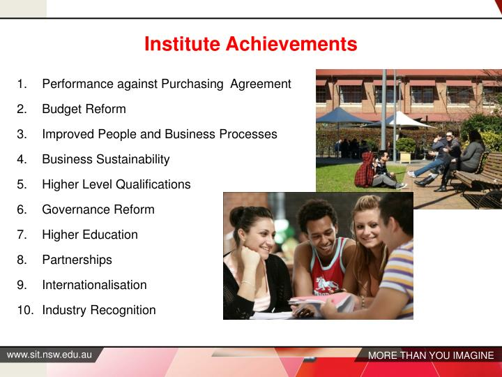 Institute Achievements