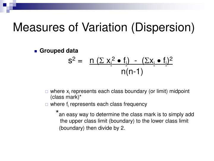 Measures of Variation (Dispersion)