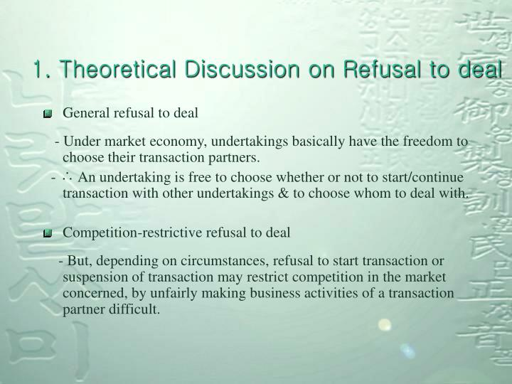 1 theoretical discussion on refusal to deal