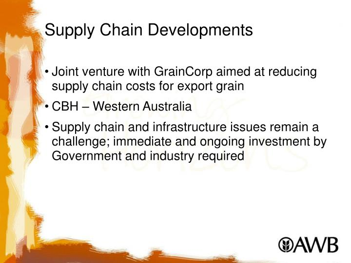 Supply Chain Developments