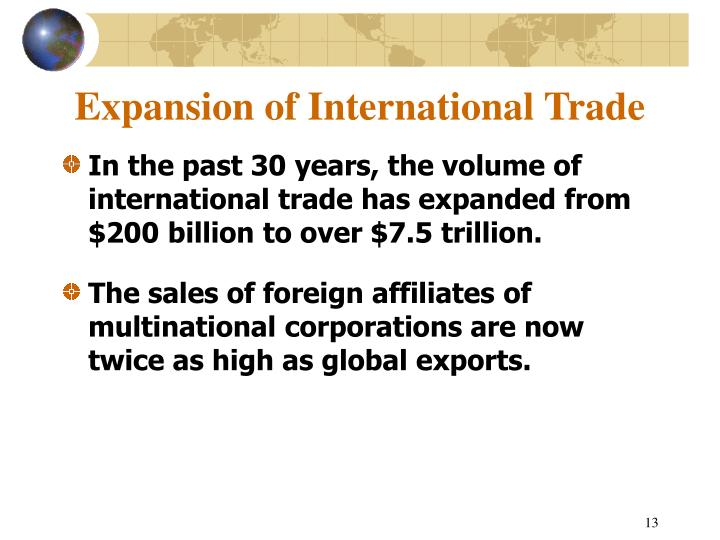 Expansion of International Trade