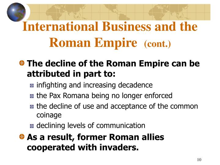 International Business and the Roman Empire