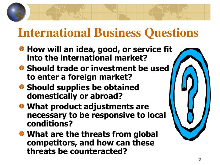 International Business Questions
