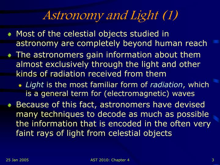 Astronomy and Light (1)