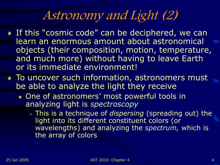 Astronomy and Light (2)