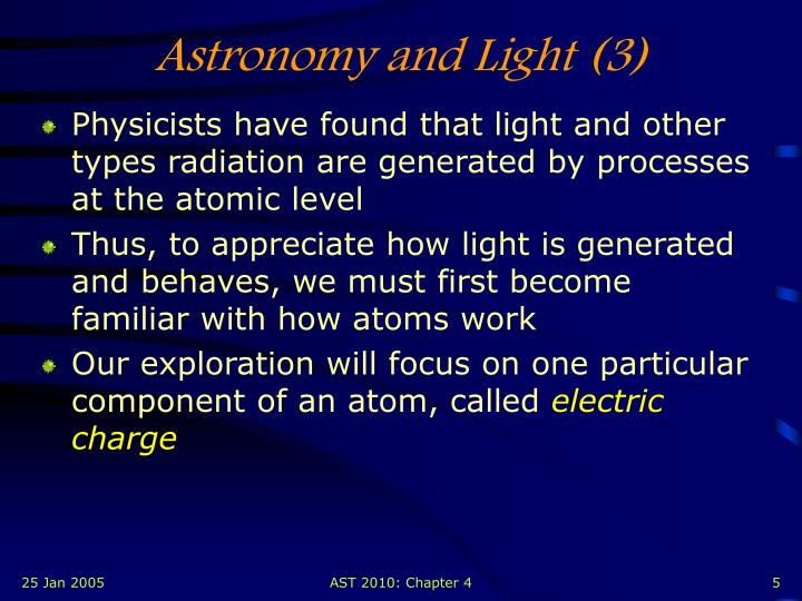 Astronomy and Light (3)
