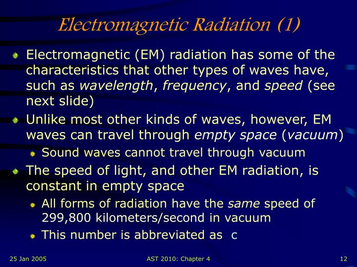 Electromagnetic Radiation (1)